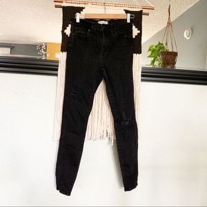 Madewell high riser skinny with distressing